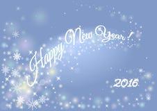 Счастливая предпосылка праздника Нового Года с надписью 2016 запачканный Стоковые Изображения RF
