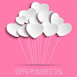 Счастливая предпосылка сердца дня матери Стоковые Изображения