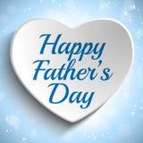 Счастливая предпосылка сердца дня отцов голубая Стоковая Фотография RF
