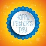 Счастливая предпосылка сердца дня отцов голубая Стоковое фото RF
