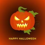 Счастливая предпосылка хеллоуина с ужасной тыквой Стоковое Фото