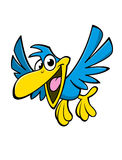Счастливая птица шаржа стоковое изображение