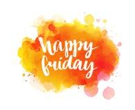 Счастливая пятница Вдохновляющая цитата, художнический вектор Стоковая Фотография