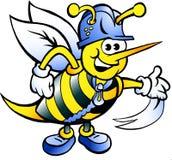 Счастливая работая пчела Стоковая Фотография