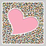 Счастливая рамка дня валентинки абстрактная предпосылка Бесплатная Иллюстрация