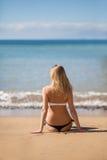 Счастливая расслабленная женщина Стоковая Фотография