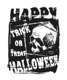 Счастливая рогулька хеллоуина Стоковая Фотография RF