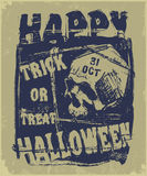 Счастливая рогулька хеллоуина Стоковое фото RF