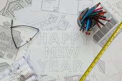 Счастливая светокопия Нового Года Стоковое фото RF