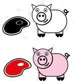Счастливая свинья Стоковое фото RF