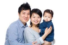 Счастливая семья Азии стоковые фото