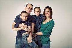 Счастливая семья Стоковое Фото