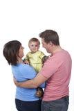 Счастливая семья с малышом Стоковая Фотография RF