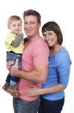 Счастливая семья с малышом Стоковое Изображение RF