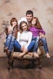 Счастливая семья Стоковое Изображение