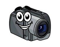 Счастливая серая видеокамера шаржа бесплатная иллюстрация