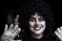 Счастливая сторона клоуна Стоковое фото RF