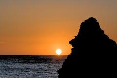 Счастливая сторона приветствует солнце утра Стоковые Изображения