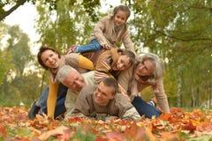 Счастливая ся семья Стоковые Изображения RF