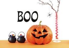 Счастливая таблица партии хеллоуина Стоковая Фотография RF