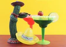 Счастливая тема партии Cinco de Mayo красочная Стоковая Фотография