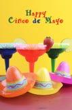 Счастливая тема партии Cinco de Mayo красочная Стоковая Фотография RF