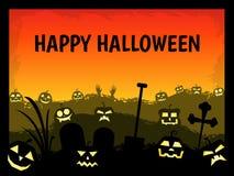 Счастливая тема хеллоуина с черной границей Стоковое фото RF