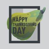 Счастливая тыква зеленого цвета официальный праздник в США в память первых колонистов Массачусетса Стоковое Изображение