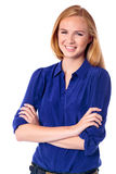 Счастливая уверенно молодая женщина Стоковое Изображение