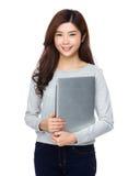 Счастливая успешная японская женщина стоковое изображение rf