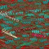 Счастливая фраза хеллоуина Справочная информация Иллюстрация штока
