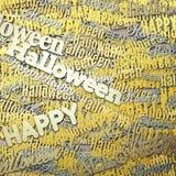 Счастливая фраза хеллоуина Справочная информация Бесплатная Иллюстрация