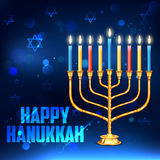 Счастливая Ханука, еврейская предпосылка праздника Стоковое Изображение RF