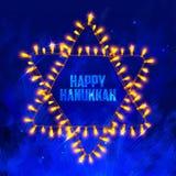 Счастливая Ханука, еврейская предпосылка праздника Стоковая Фотография