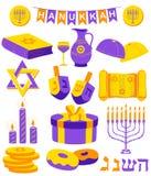 Счастливая Ханука, еврейская предпосылка праздника иллюстрация штока