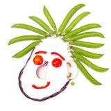 Счастливая человеческая голова сделанная овощей Стоковые Фото
