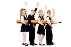 счастливая школа Стоковая Фотография