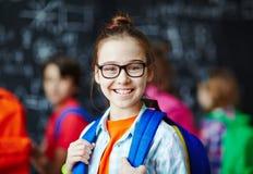 счастливая школьница Стоковое Изображение