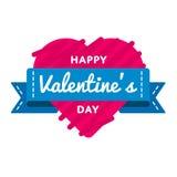 Счастливая эмблема приветствию дня валентинок Стоковая Фотография RF