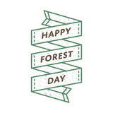 Счастливая эмблема приветствию дня леса Стоковые Фото