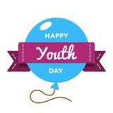 Счастливая эмблема приветствию дня молодости иллюстрация вектора