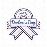Счастливая эмблема приветствию дня докторов Стоковое Изображение RF