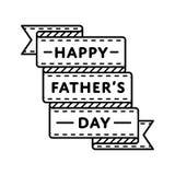 Счастливая эмблема приветствию дня отцов стоковое изображение rf