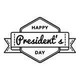 Счастливая эмблема приветствию дня президентов Стоковое Изображение