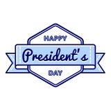 Счастливая эмблема приветствию дня президентов Стоковая Фотография RF