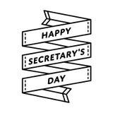 Счастливая эмблема приветствию дня секретарши Стоковая Фотография