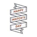 Счастливая эмблема приветствию дня спички Стоковая Фотография RF