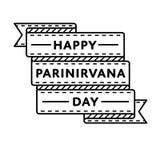 Счастливая эмблема приветствию дня Parinirvana Стоковое фото RF