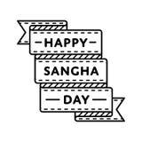 Счастливая эмблема приветствию дня Sangha Стоковые Изображения