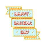 Счастливая эмблема приветствию дня Sangha Стоковое Изображение